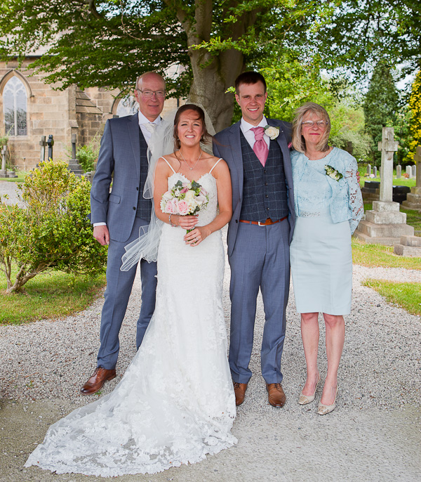 grooms family at preston wedding