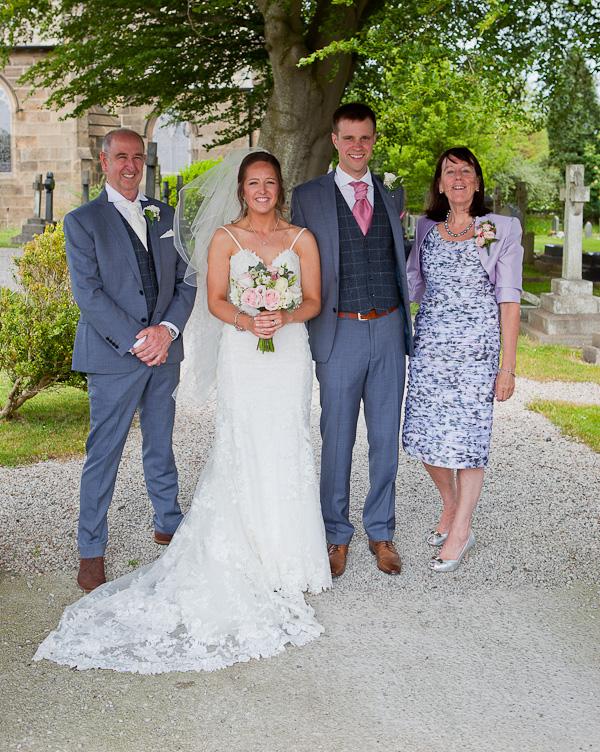brides family at preston wedding