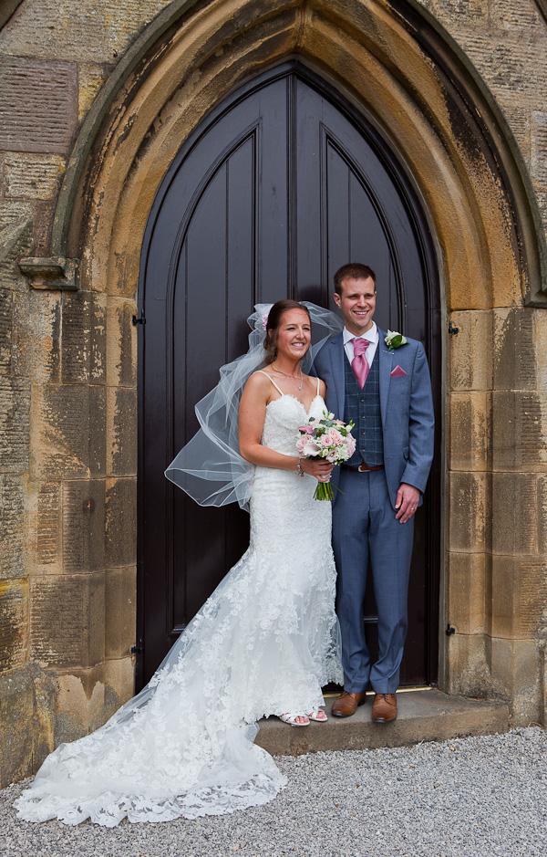 bride and groom at lund parish