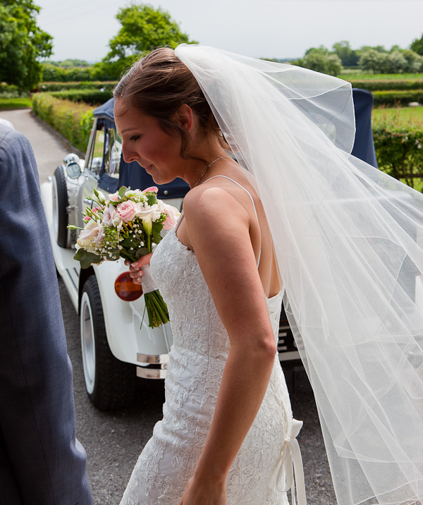 bride veil at wedding preston