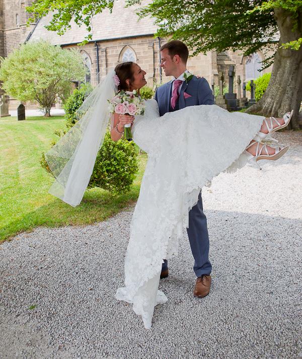 newlyweds at lund parish church preston