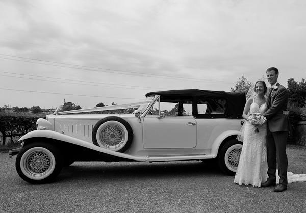 wedding car at lund parish preston