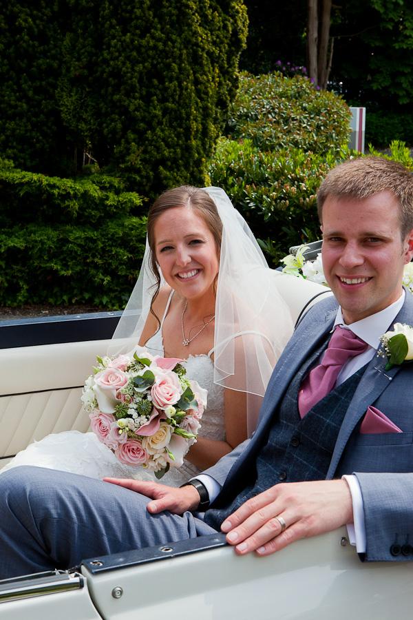 wedding car at marriott preston