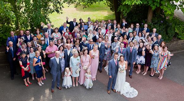 wedding photograph at the marriott preston