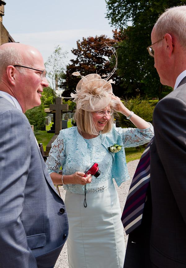 wedding guests at preston wedding