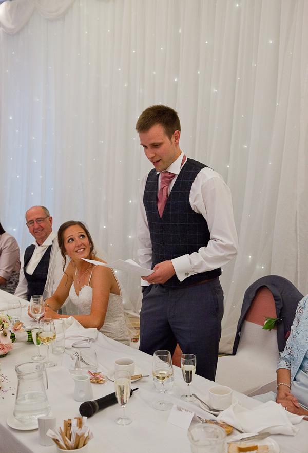 groom speech at the marriott preston