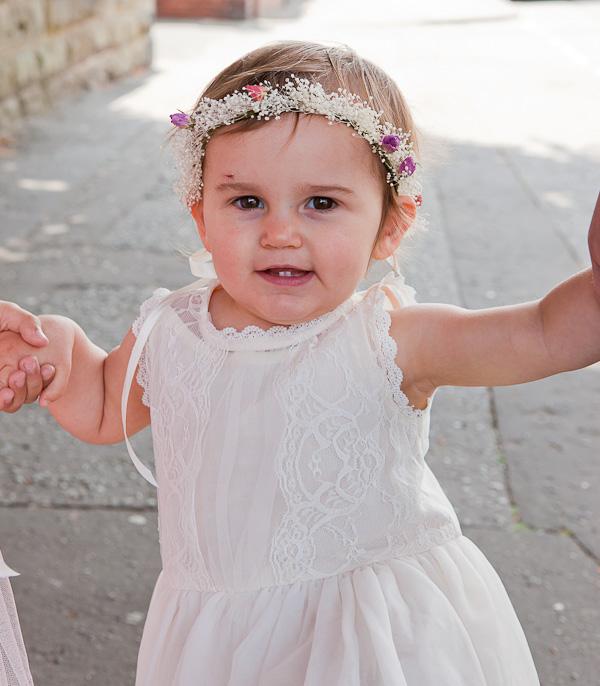 flowergirl dress at wedding lancashire