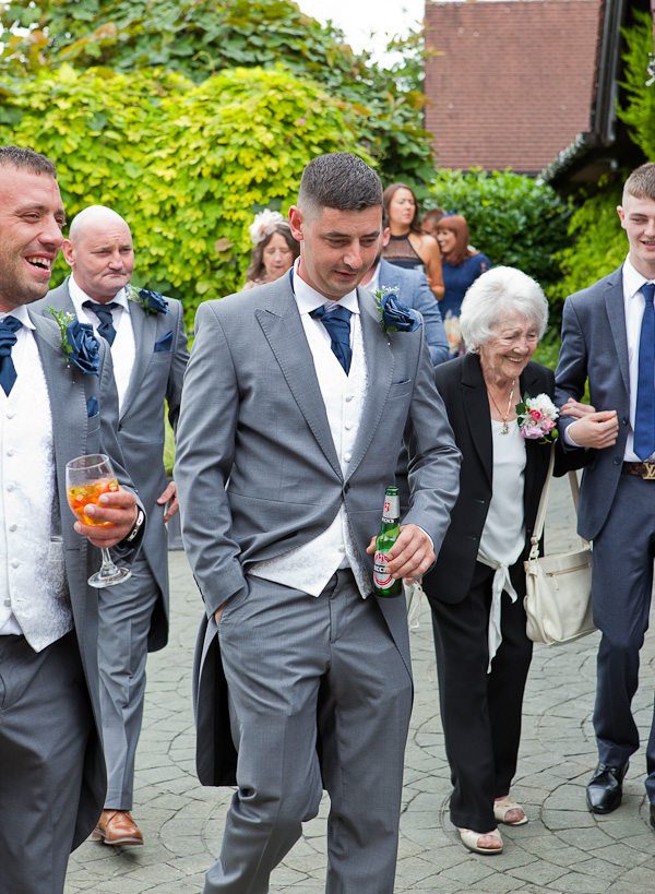groomsmen at barton grange wedding preston