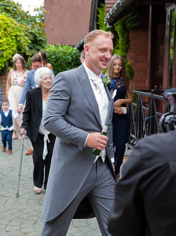 groom at barton grange wedding preston