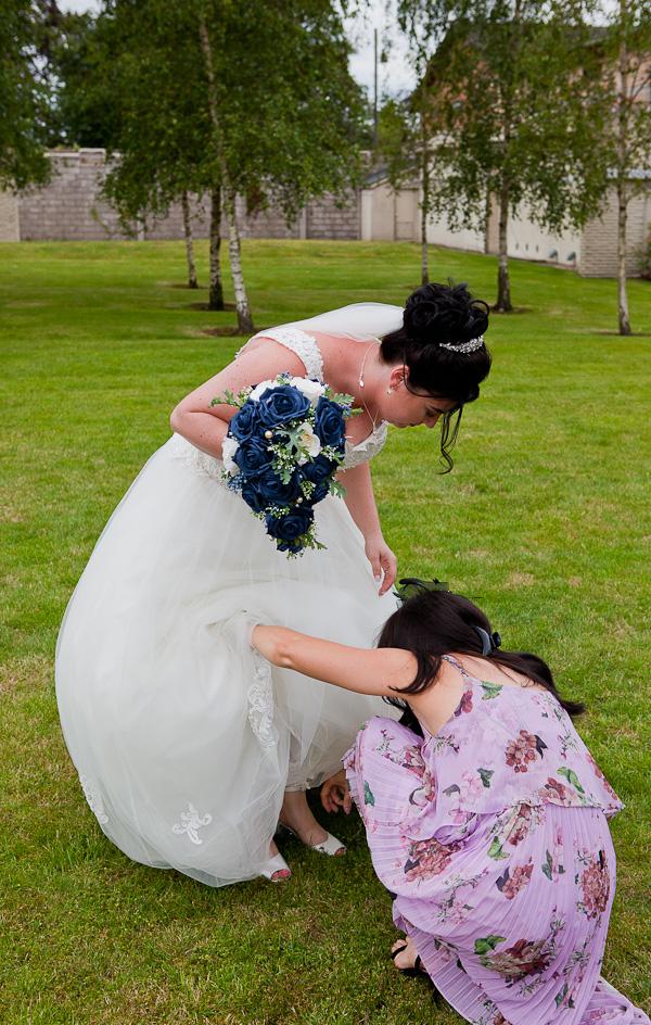 bride at barton grange wedding