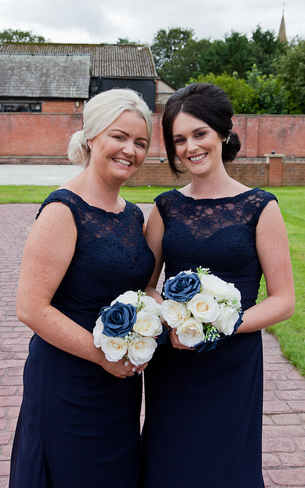 bridesmaid photograph at barton grange preston