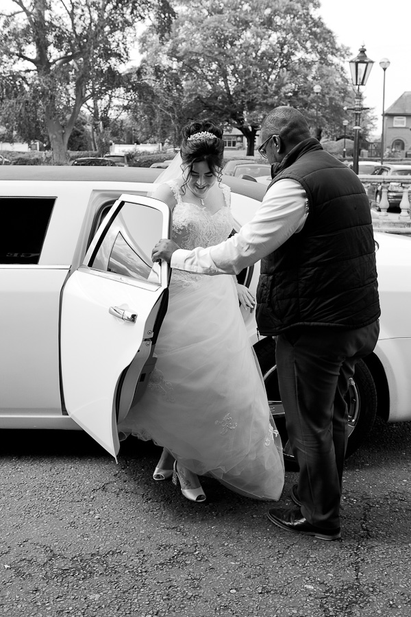 wedding car at barton grange preston