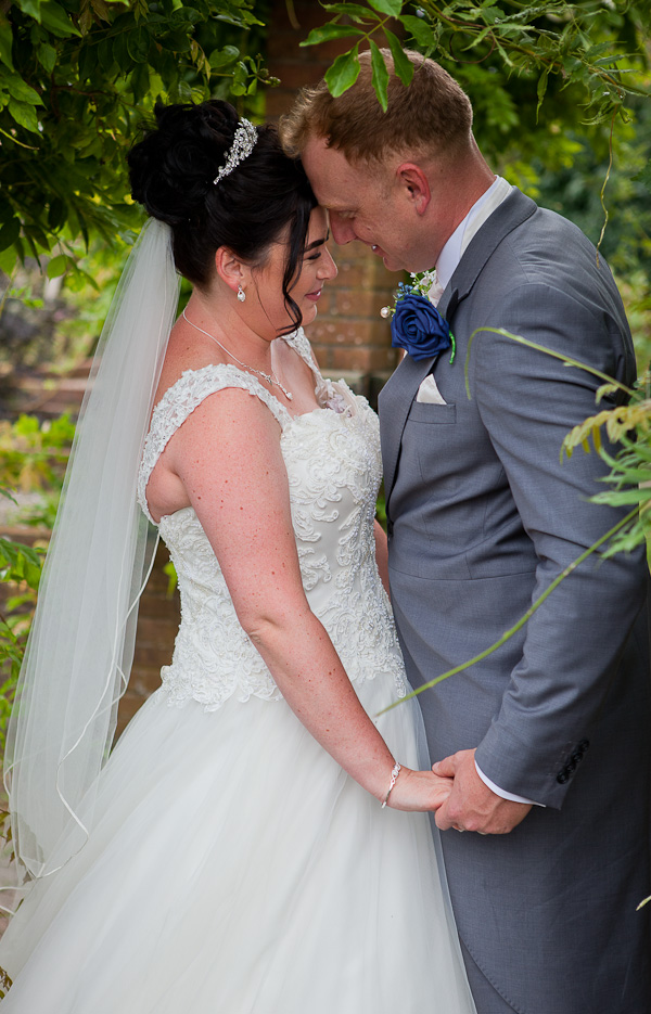 bride and groom at barton grange