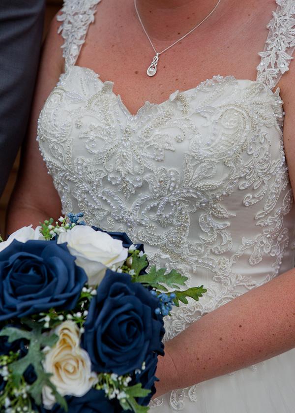 wedding dress at barton grange hotel