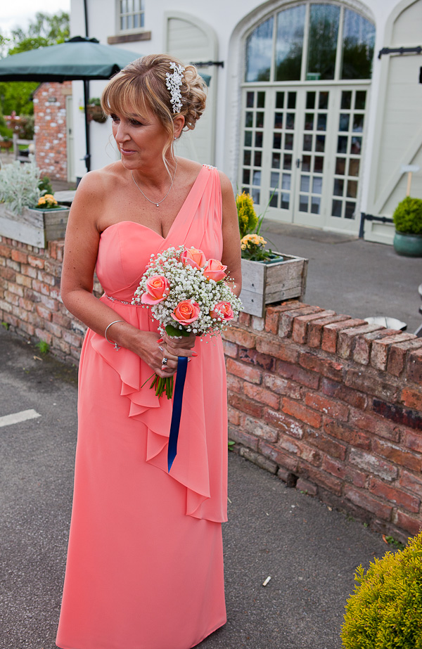bridesmaid at charnock farm lancashire