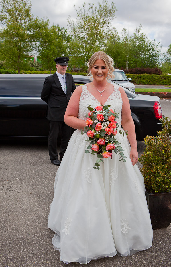 bride at lancashire wedding venue