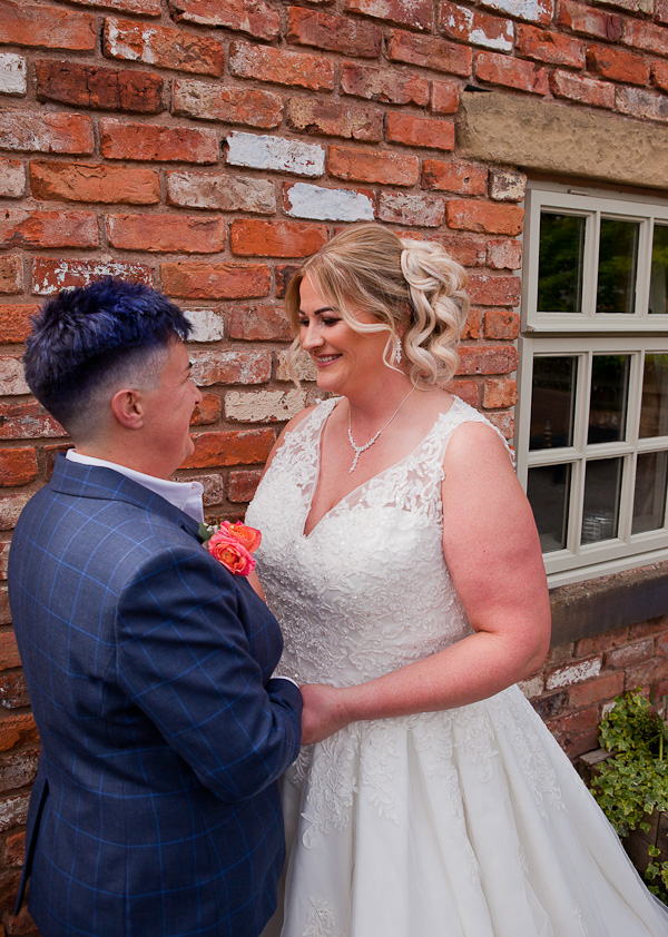 newlyweds at charnock farm lancashire