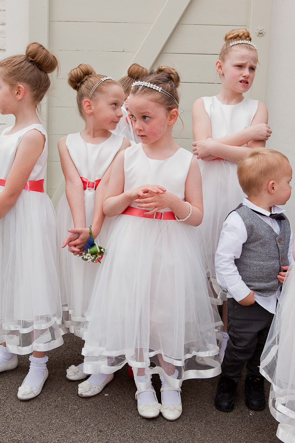 flowergirls at charnock farm lancashire