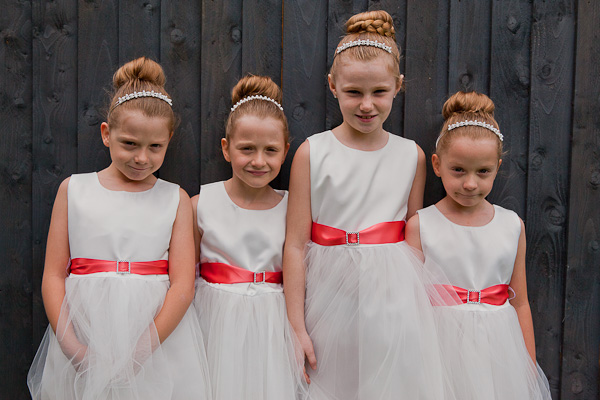 flowergirls at wedding in lancashire