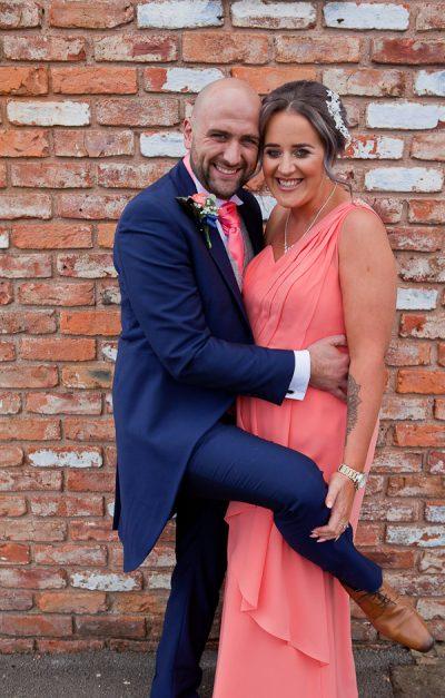 wedding guests at charnock farm lancashire