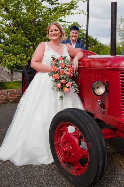 wedding photo at charnock farm lancashire
