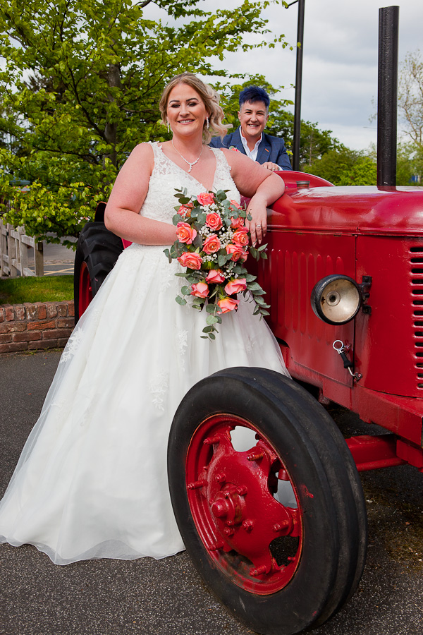 wedding photo at charnock farm lancashire
