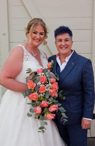 bride at charnock farm lancashire