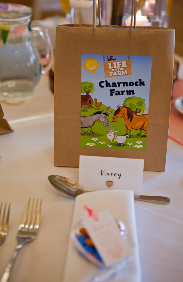 table decorations at charnock farm lancashire