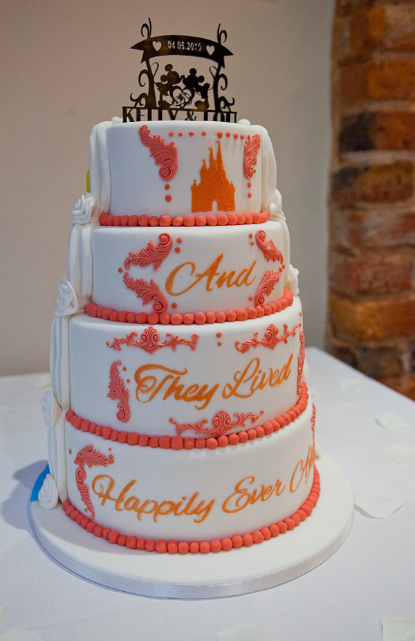 wedding cake at charnock farm lancashire