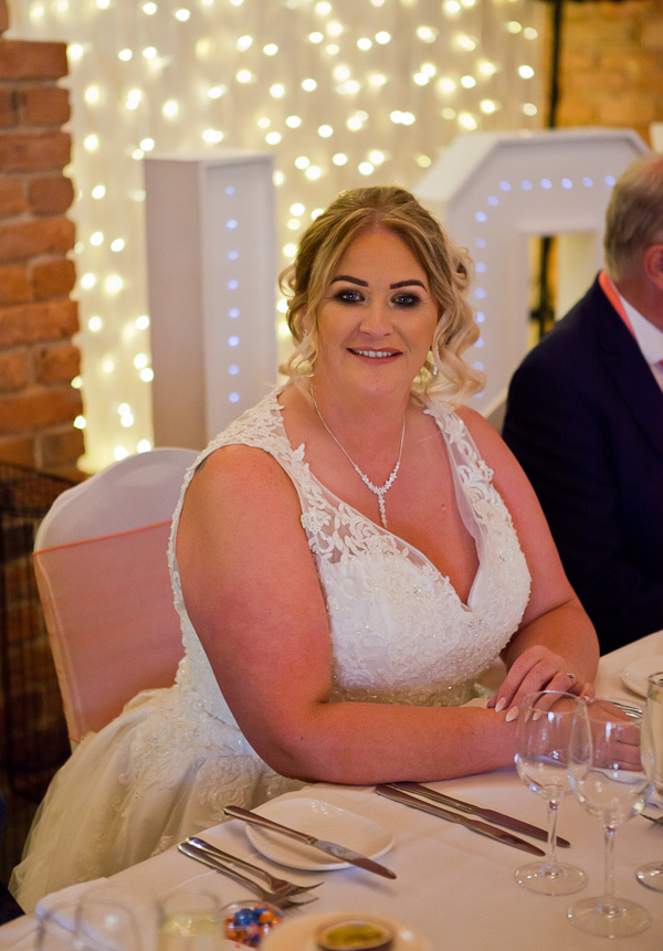 bride at lancashire wedding
