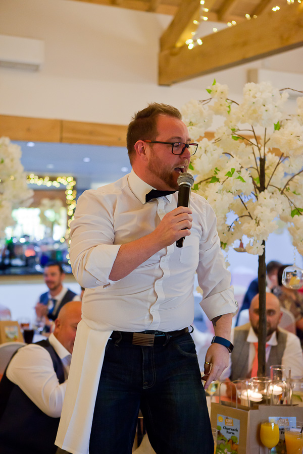 wedding singer at charnock farm lancashire