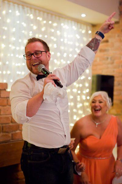 singer at wedding charnock farm lancashire