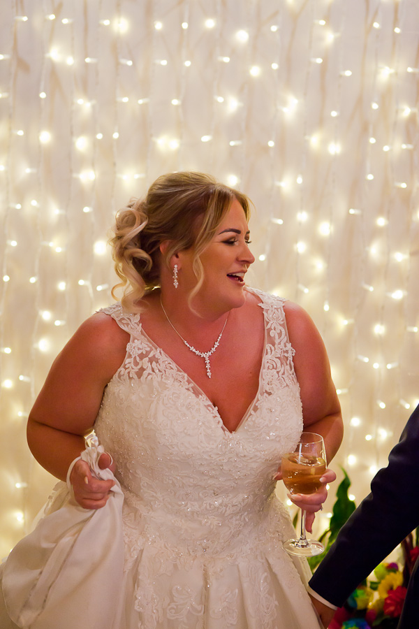 bride at charnock farm wedding