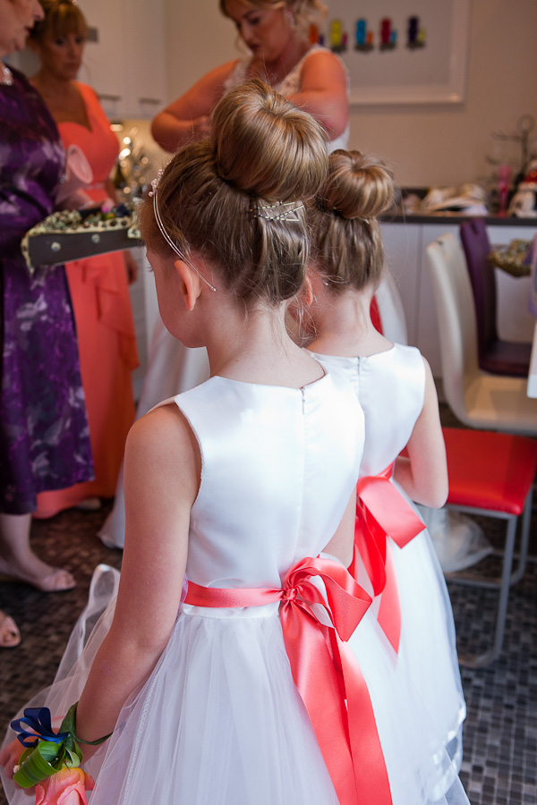 flowergirls at lancashire wedding