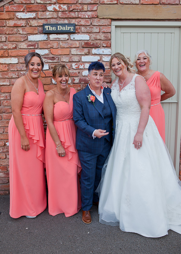 wedding photographer at charnock farm lancashire