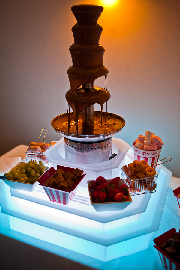 chocolate fountain at charnock farm lancashire