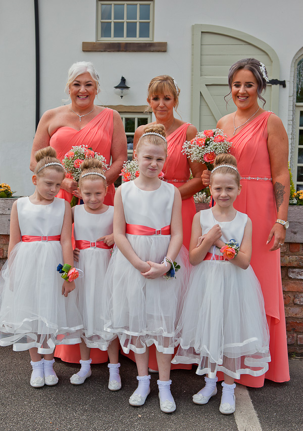 bridesmaids at charnock farm lancashire