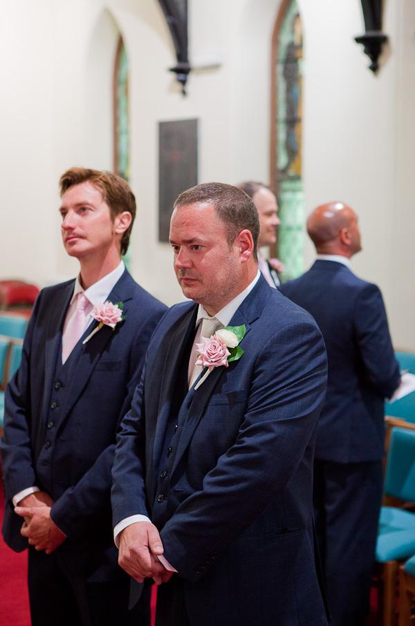 groom at church wedding liverpool