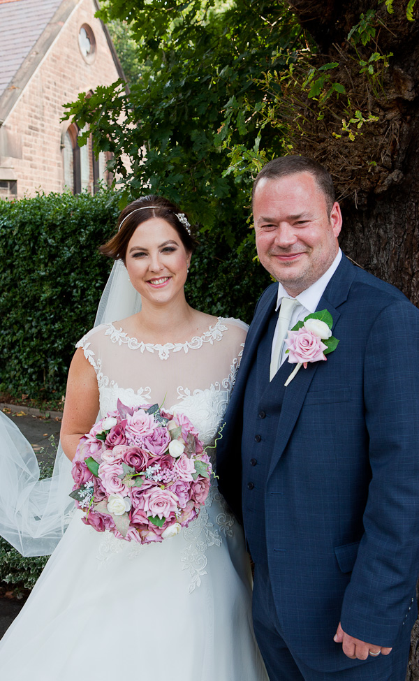 bride and groom at wedding liverpool