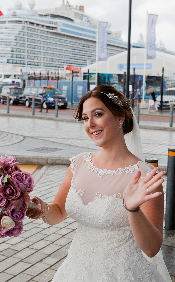 bride at the docks liverpool