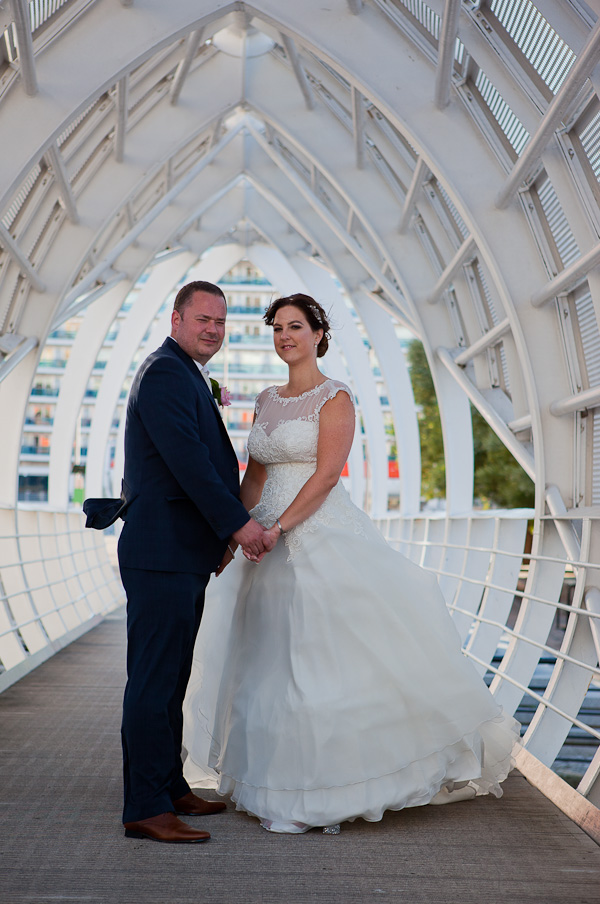 wedding photograph at the liverpool docks