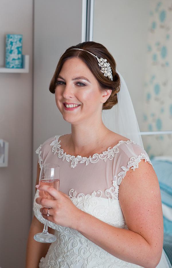 bride at wedding liverpool