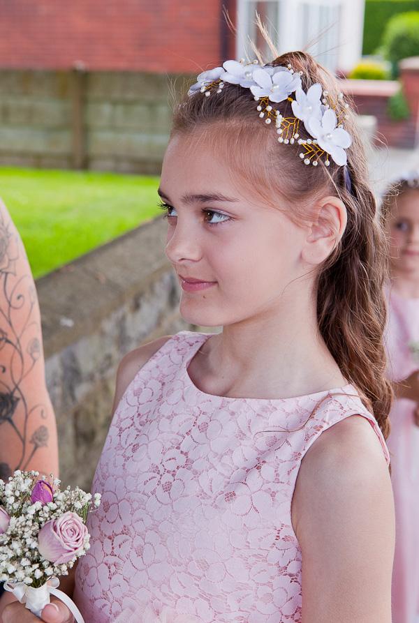 flowergirl at church preston