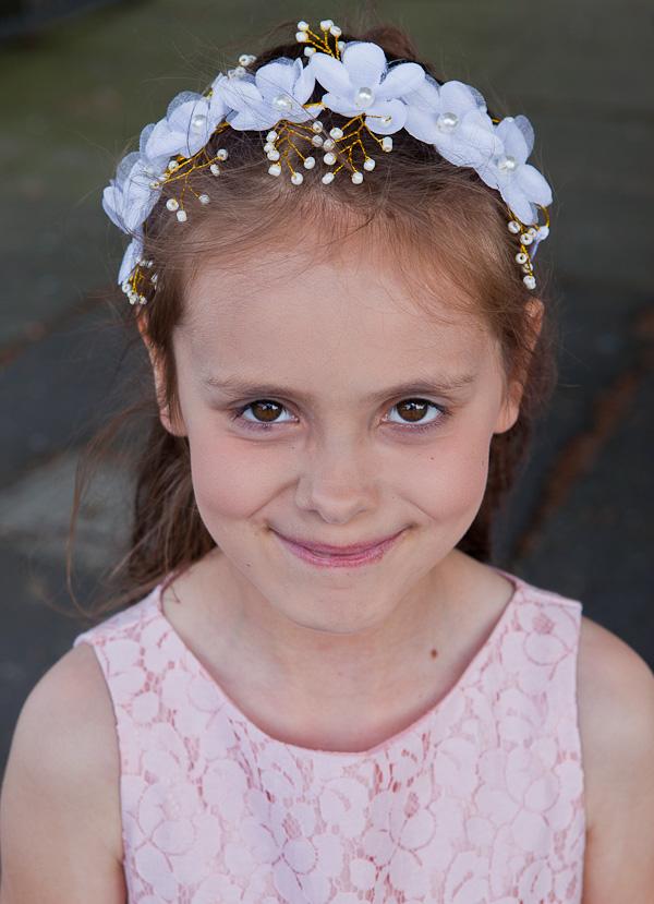 flowergirl at saint aidens parish preston