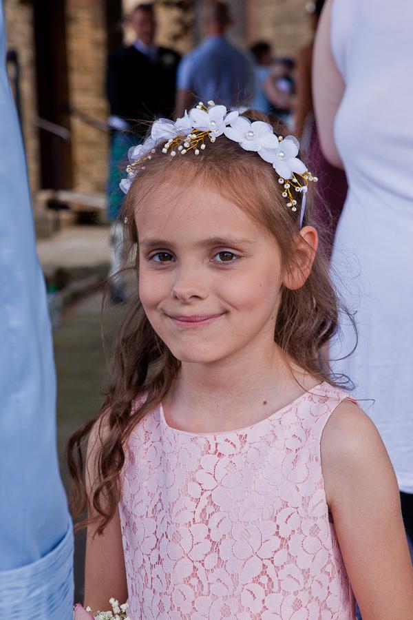 flowergirl at saint aiden church preston
