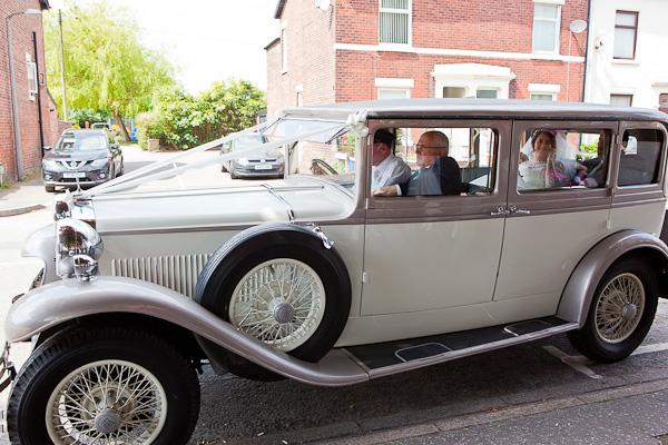 wedding car in preston