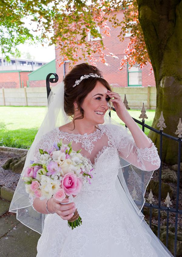 bride at lancashire church