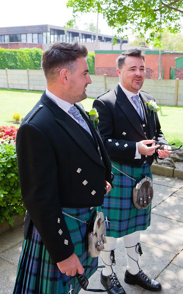 groomsmen at lancashire church wedding