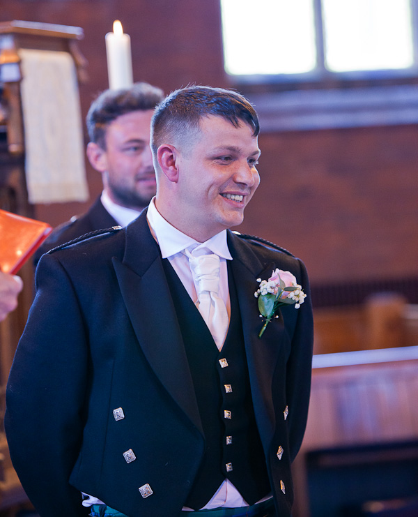 groom at saint aiden church preston