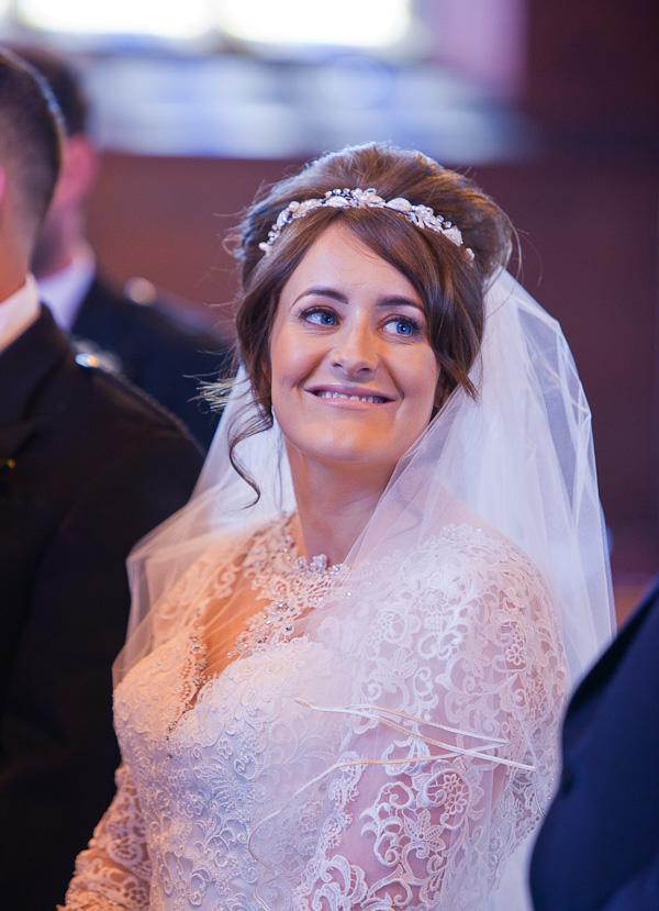 bride at saint aiden church preston